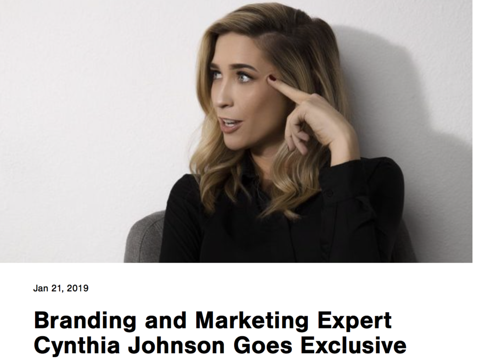 Branding and Marketing Expert Cynthia Johnson Goes Exclusive - BIG SPEAK