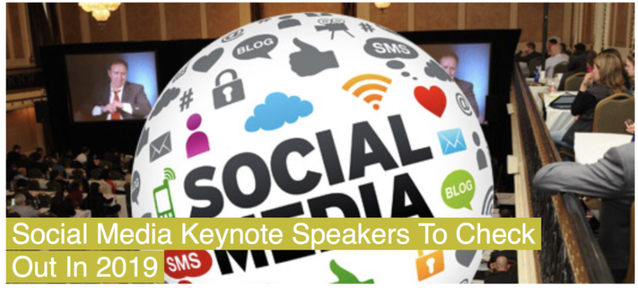 Social Media Keynote Speakers To Check Out In 2019 - Social Media Explorer - SOCIAL MEDIA EXPLORER
