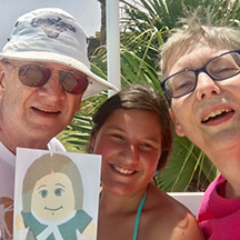 in Port Aransas with Bob and Alison Buck and niece Ruthie Brown.