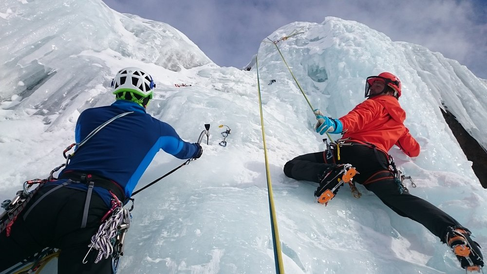 Or ice climb!