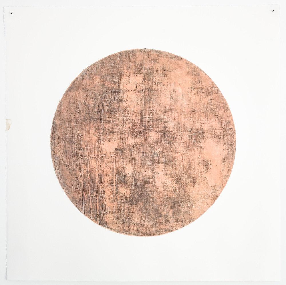 untitled, 2017, gauche & graphite wax-plate print