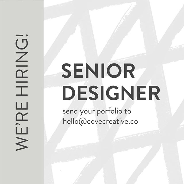 We are looking for a senior designer to work with on several exciting new projects in the works. Preferable in Austin but open to remote. Ideally someone that we can work with on an ongoing basis. Please contact us at hello@covecreative.co. ⠀⠀⠀⠀⠀⠀⠀⠀⠀ ⠀⠀⠀⠀⠀⠀⠀⠀⠀ •⠀⠀⠀⠀⠀⠀⠀⠀⠀ •⠀⠀⠀⠀⠀⠀⠀⠀⠀ •⠀⠀⠀⠀⠀⠀⠀⠀⠀ •⠀⠀⠀⠀⠀⠀⠀⠀⠀ •⠀⠀⠀⠀⠀⠀⠀⠀⠀ •⠀⠀⠀⠀⠀⠀⠀⠀⠀ #covecreative #covebranding #covebranddesign #covedesign #covephotography #covemarketing #covegraphicdesign #austin #austinbranding #austingraphicdesign #visualmarketinstudio #creativeentrepeneur #webdesign #beingboss #smallbusiness #womeninbusiness #brandstylist #brandrefresh #newbranding #rebranding #tellyourstory #commercialphotography #photography #branding #branddesign #webdesign #visualidentity #identitydesign #corporateidentity #graphicdesignstudio