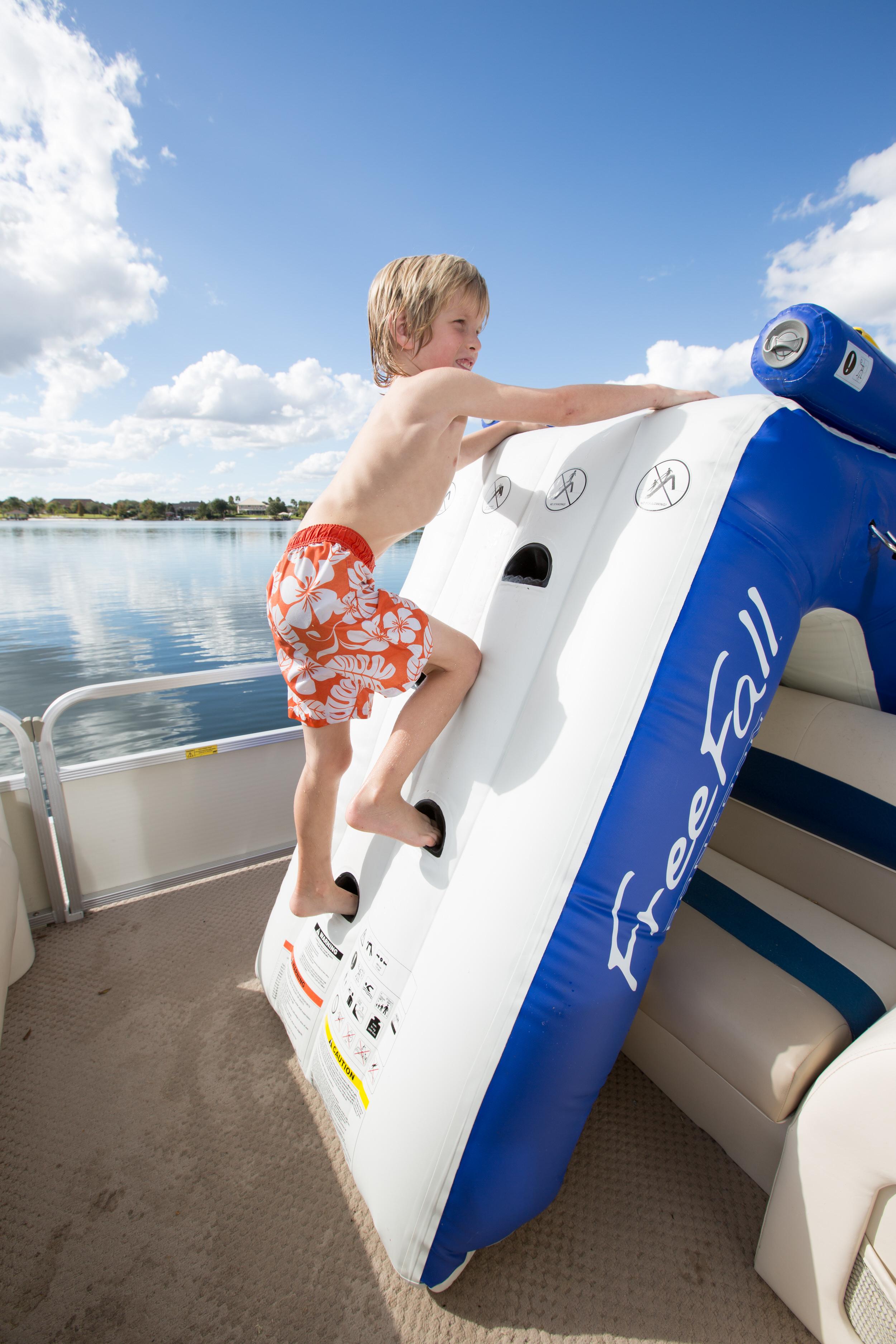 Image result for Aquaglide Inflatable water slide pontoon
