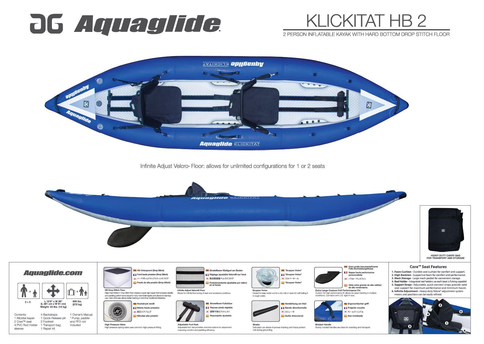 KLICKITAT 125 HB — Aquaglide | Custom Commercial Inflatable