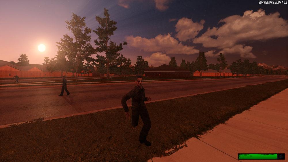 Zombie running toward player
