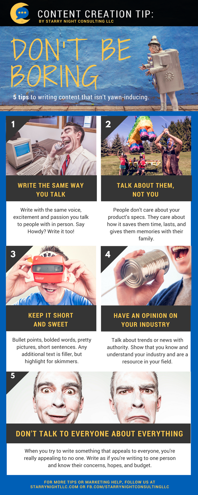 5 Content Creation Tips: Don't Be Boring