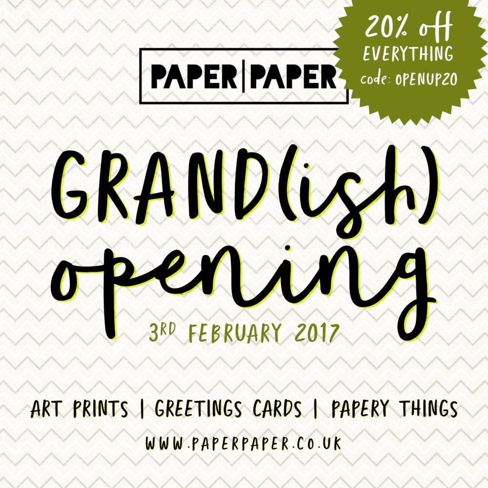 Grand(ish) opening
