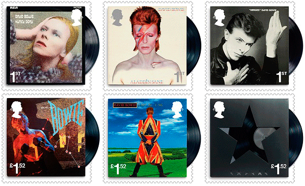Royal Mail Bowie stamps