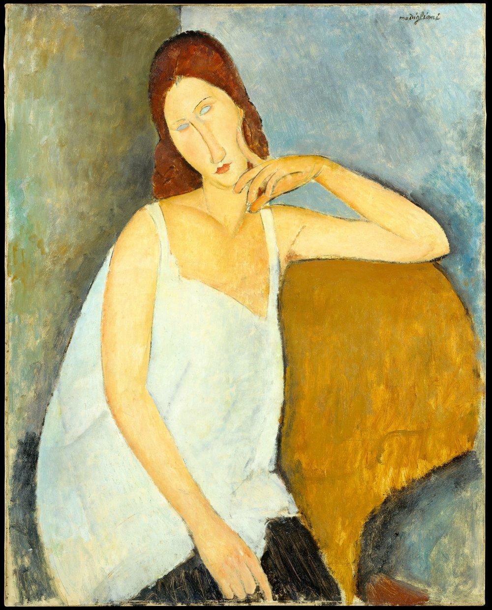 Amedeo Modigliani. Portrait of Jeanne Hébuterne. 1919. Courtesy of the Metropolitan Museum.