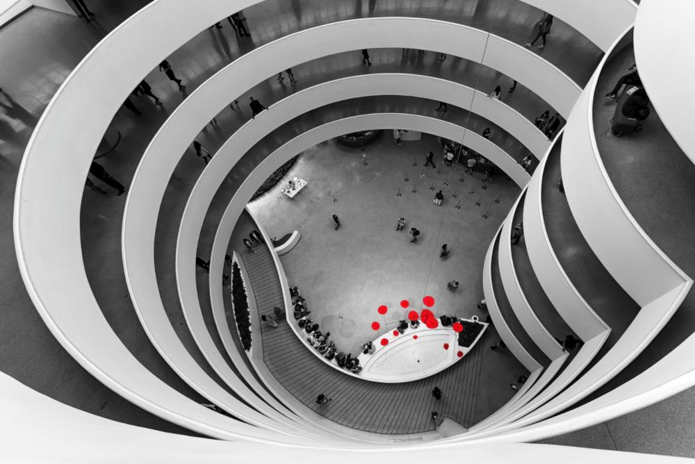 Guggenheim Museum Atrium by Lukas Schlagenhauf