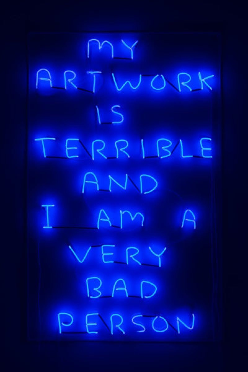 Exhibit 2: David Shrigley,  My Artwork (blue) , 2018. Courtesy of the artist and Stephen Friedman Gallery.