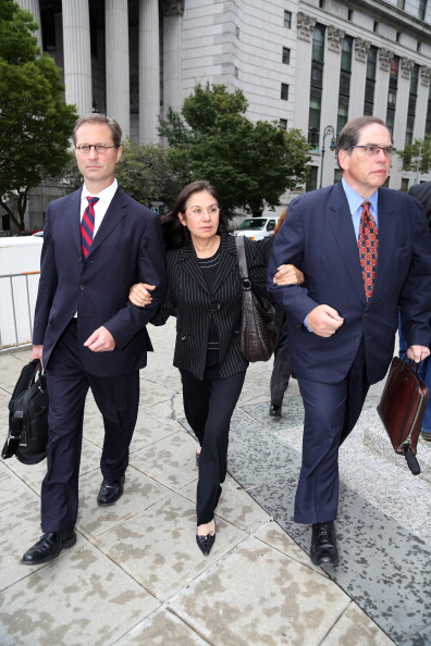 Glafira Rosales arriving for her sentencing hearing