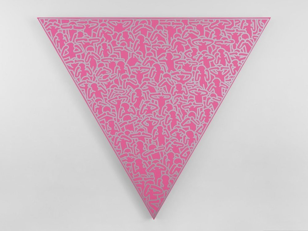 #10 Keith Haring   Silence = Death  (1988)  Acrylic on canvas  Exhibited at Lévy Gorvy's booth (Art Basel in Miami Beach)