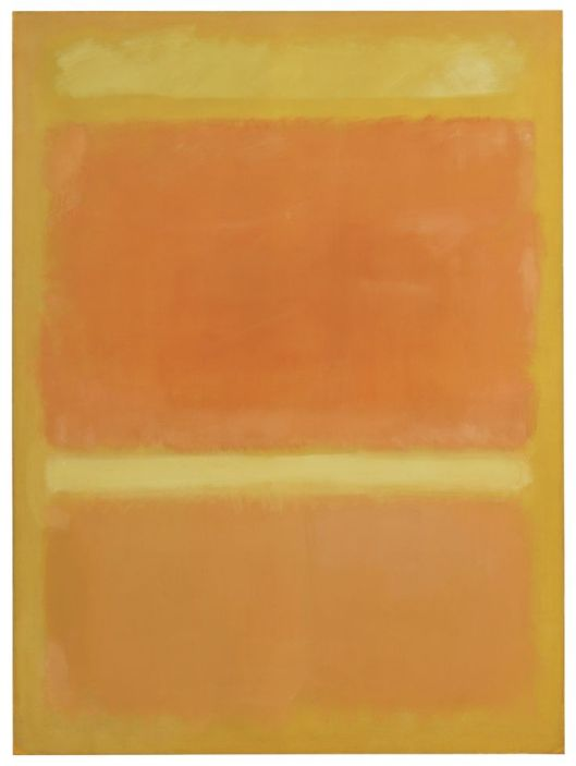 #6 Mark Rothko   Untitled (Yellow, Orange, Yellow, Light Orange)  (1955)  Oil on canvas  Exhibited at Helly Nahmad Gallery's booth (Art Basel in Miami Beach)