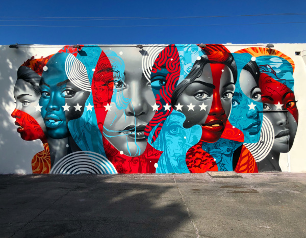 #3 Tristan Eaton   American Power  (2017)  Spray paint  Installed as part of the 2017 Wynwood Walls program