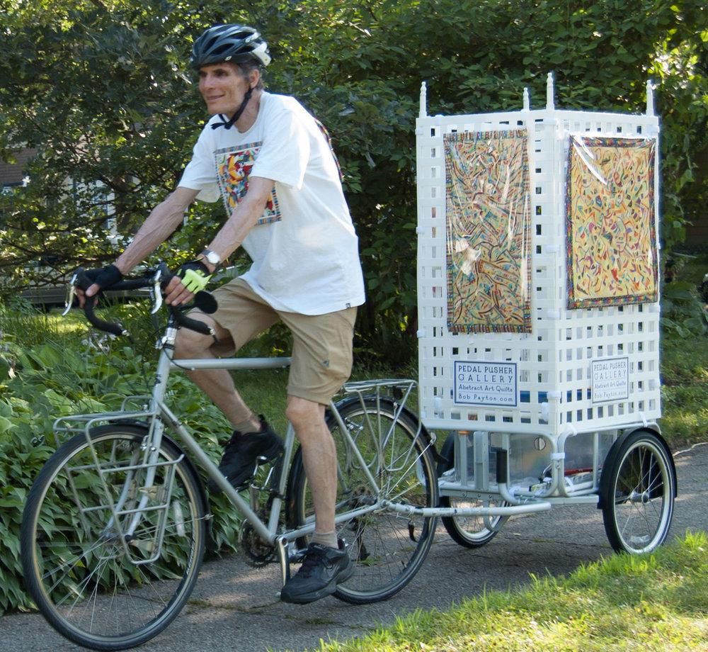 Pedal Pusher Bicycle Art Cart-Abstract Art Quilts-Bob Payton.com
