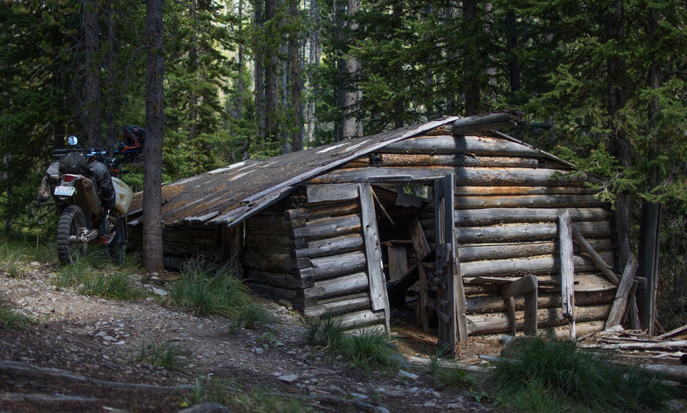 Homestead on the Continental Divide near  Big Hole Pass