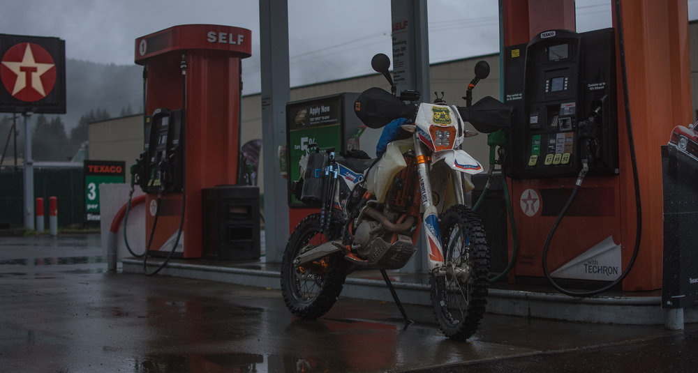 Gassing up in  Carson, WA .