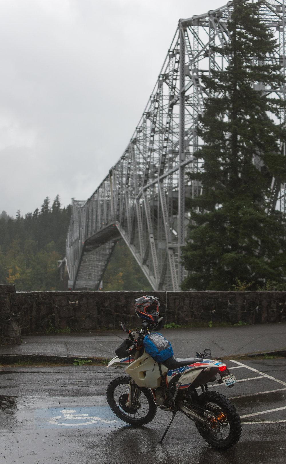 45.661741, -121.898484 . Bridge of the Gods, Oregon side.