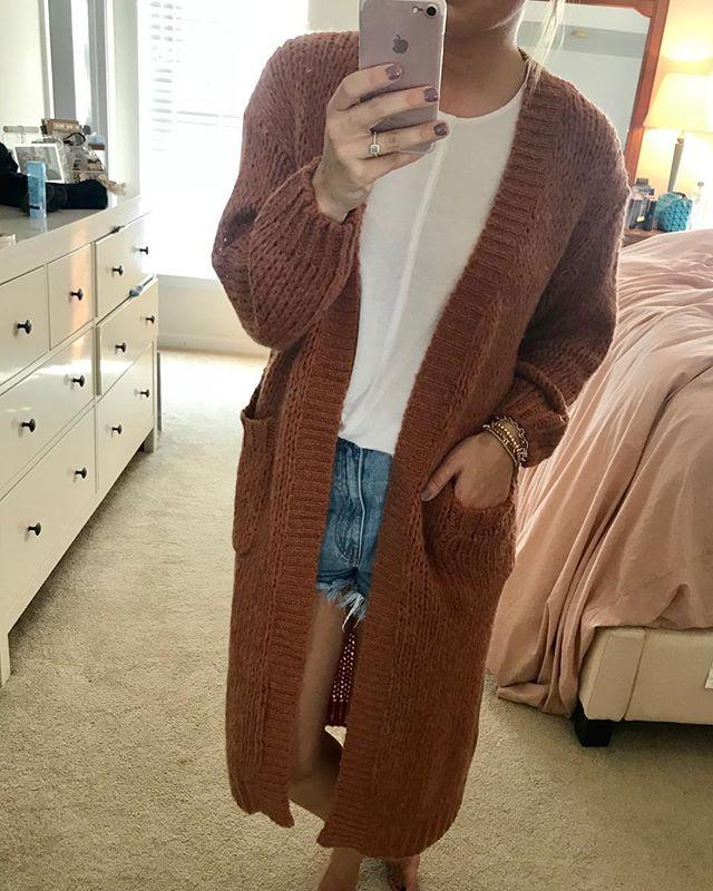 Rust Knit Cardi 🍁 $58