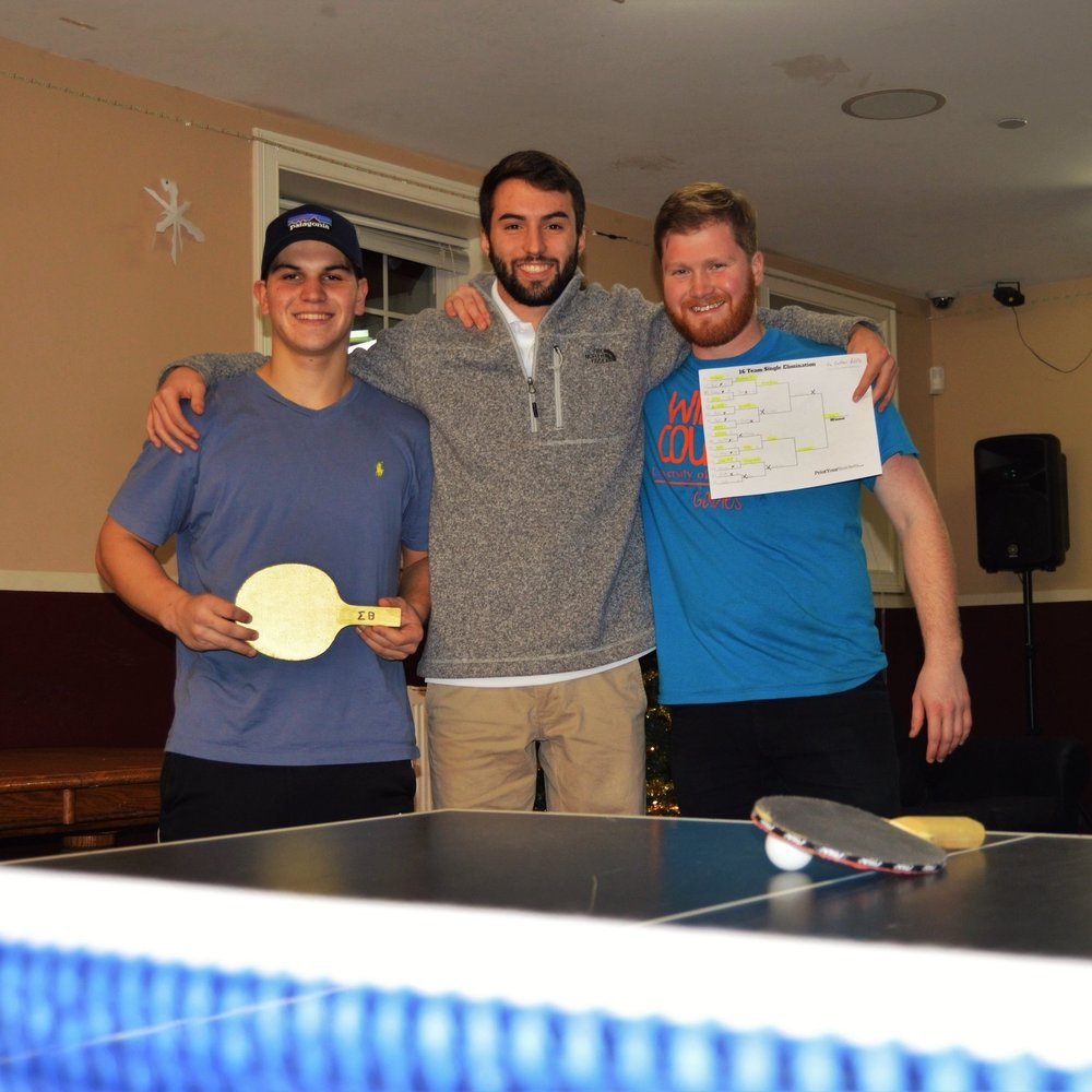 Left to Right: Champion Sebastian Gonin, Host Joey Ferraro, Runner up Graham Pirie