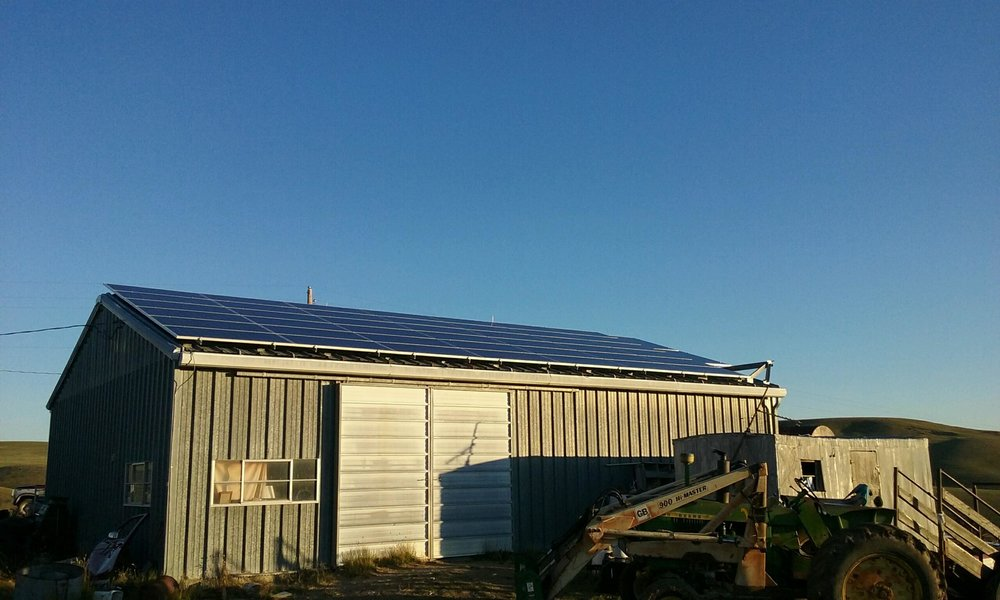 Our Shop With Solar Panels