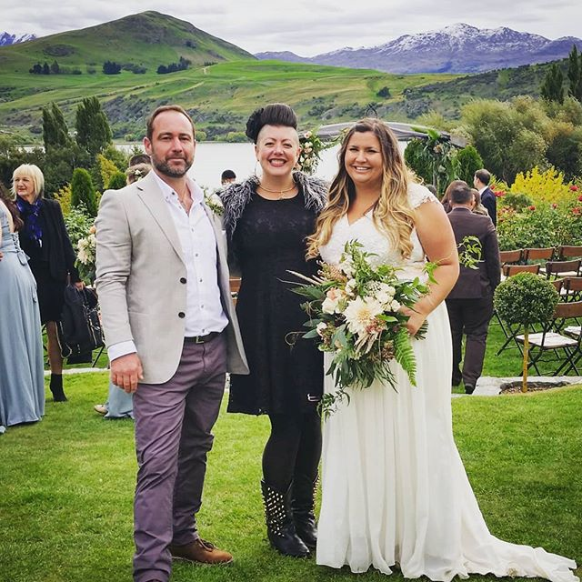 "Everybody say ""Arrrrr"" in your best pirate voice for *ROSE and CHRIS* @stoneridge_estate .  Such a fun ceremony with a Rum Blending Ritual, yum!  Rose is the very proud owner of the pirate rum bar @rbarwellington so rum has a very special place in both if their hearts 💜💜💜 . . . . . #yumrum #sayarrrrr #happilyeverafterinwanaka #sayidoinwanaka #celebrantemily #wanakawedding #weddingwanaka #wanaka #wanakacelebrant #celebrantwanaka #wanakaweddingcelebrant"