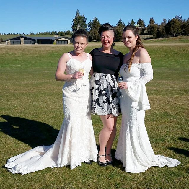 Two of the coolest chicks ever! *EMMA and JO* Thanks for letting me be a part of your beautiful love filled day @dublinbayweddings 💜 You guys rock! . . . . . #celebrantemily #wanakawedding #weddingwanaka #wanakaweddings #sayidoinwanaka #wanaka #wanakacelebrant #celebrantwanaka #destinationwedding #weddingdestination #dublinbayweddings #loveislove #lovemyjob