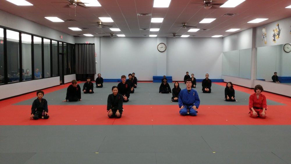 Black Belt class, Cinco Ranch school