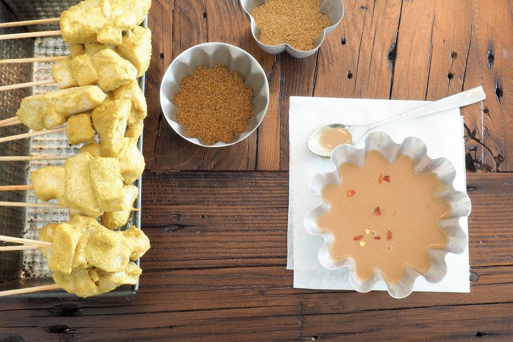 Chicken Satay with Peanut Sauce Recipe
