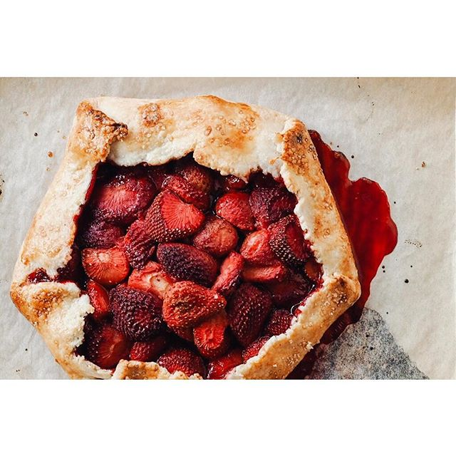 Strawberry galette with my Grandma's butter pastry recipe!