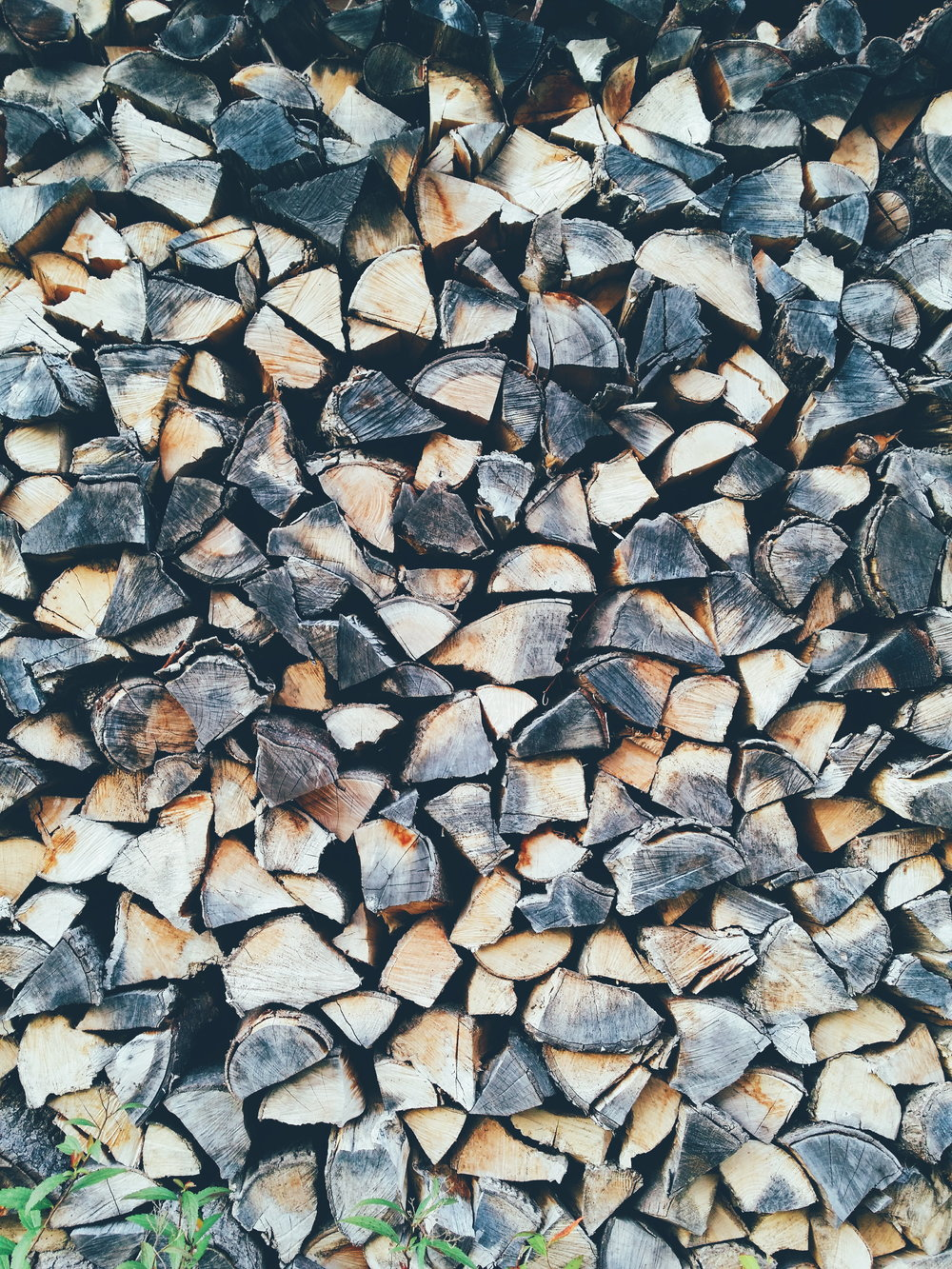 Seasoned Firewood Stacked - Hixson and Chattanooga Friewood Service