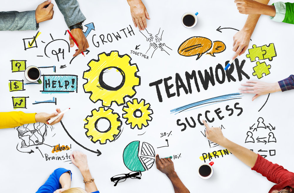 """Figure 5.  From """"Teamwork Team Together Collaboration Meeting Brainstorming Ideas Concept,"""" by Rawpixel.com, n.d., https://www.shutterstock.com/image-photo/teamwork-team-together-collaboration-meeting-brainstorming-263833961/ . Copyright 2018 by Rawpixel.com."""