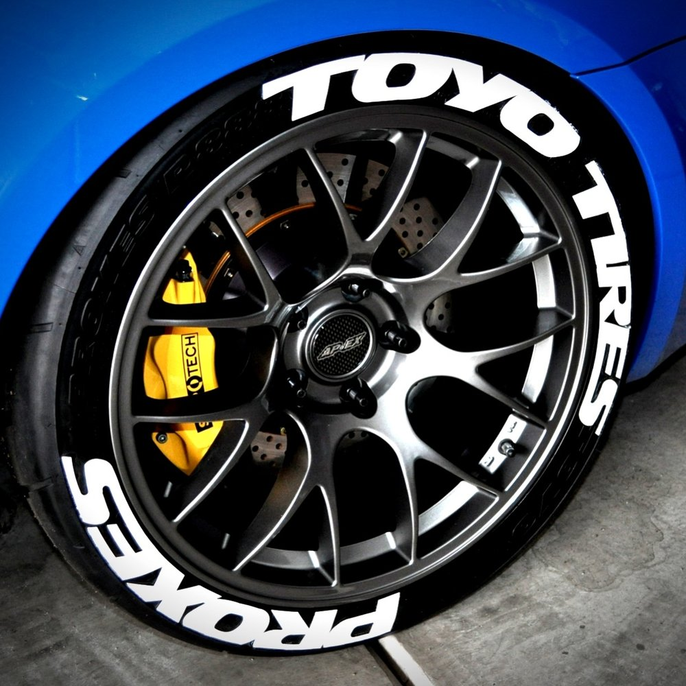 dont let your tires go round naked dress them with tredwear graphics and lettering kits