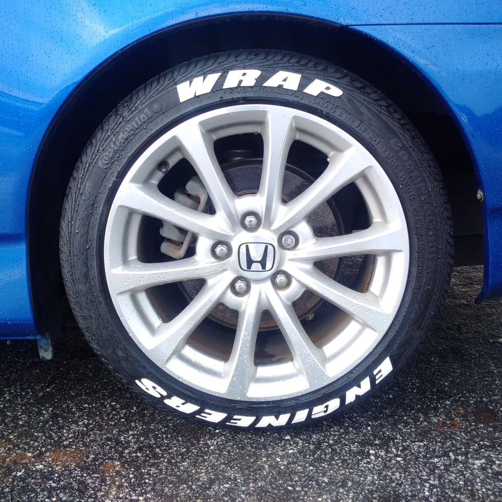 tire lettering — wrap engineers®