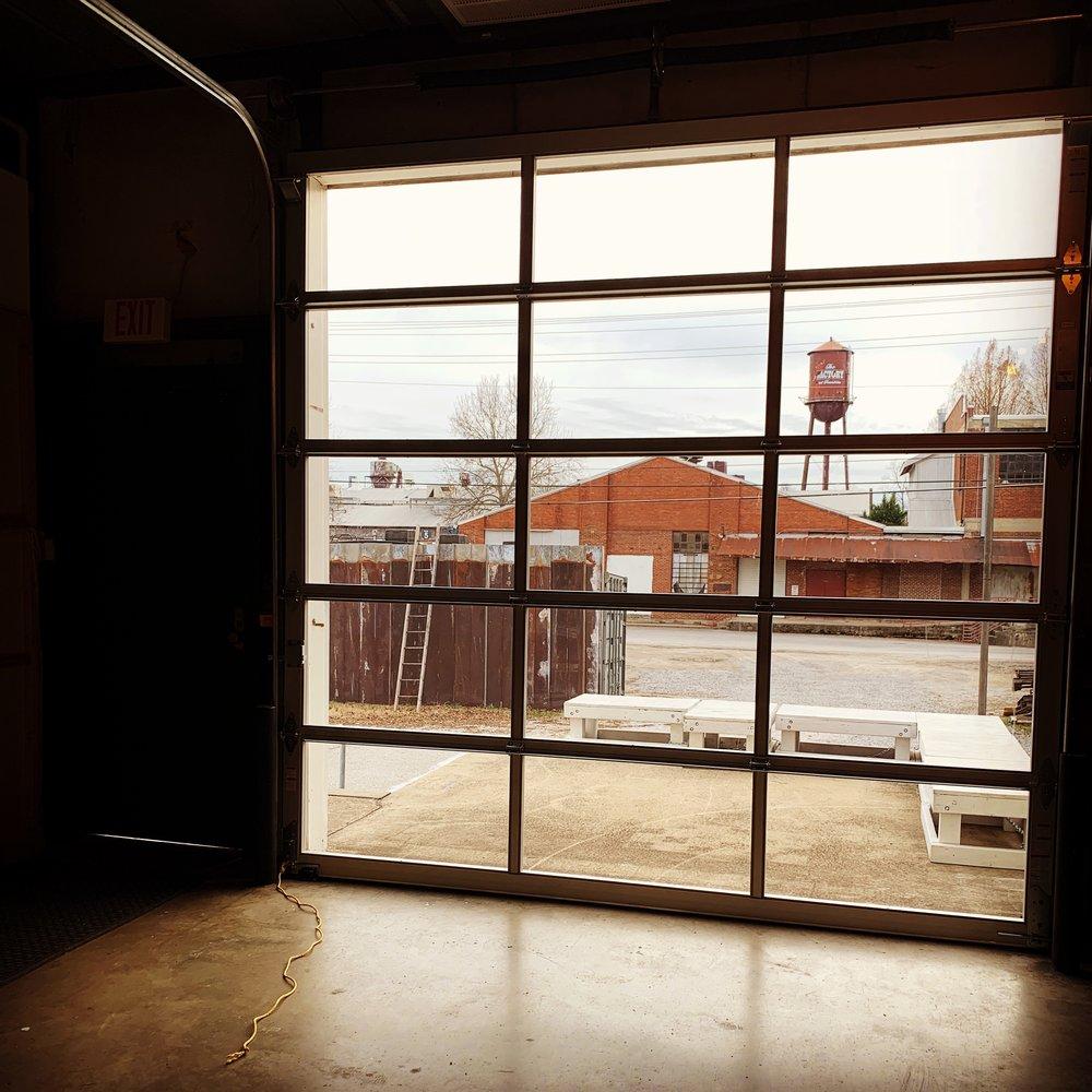 Dec 19 2018 - Westlight Studios gets a new glass garage door in Studio A