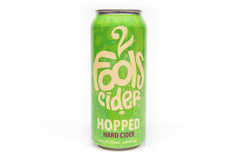 Hopped Hard Cider - Dry English style cider lightly hopped with a blend of Cascade and Amarillo hops.