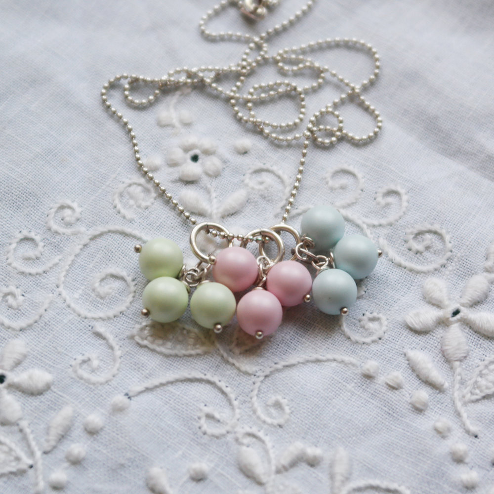 Pastel Triple Drop Pendants in Group.jpg