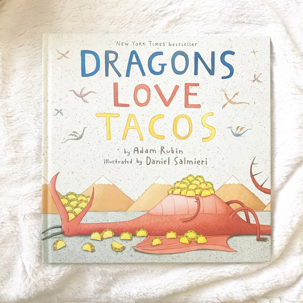 Dragons love Tacos    Dragons love Tacos 2   This is a must book. If not for VDAY, but it! It's so silly and my kids love it.