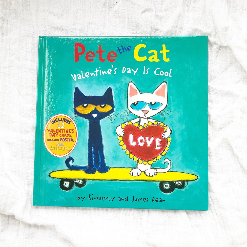 """Pete the Cat: Valentine's Day is cool   Pete the Cat is one of my favorite series but if you don't have any of these yet start with a classic like """"In my White Shoes"""""""