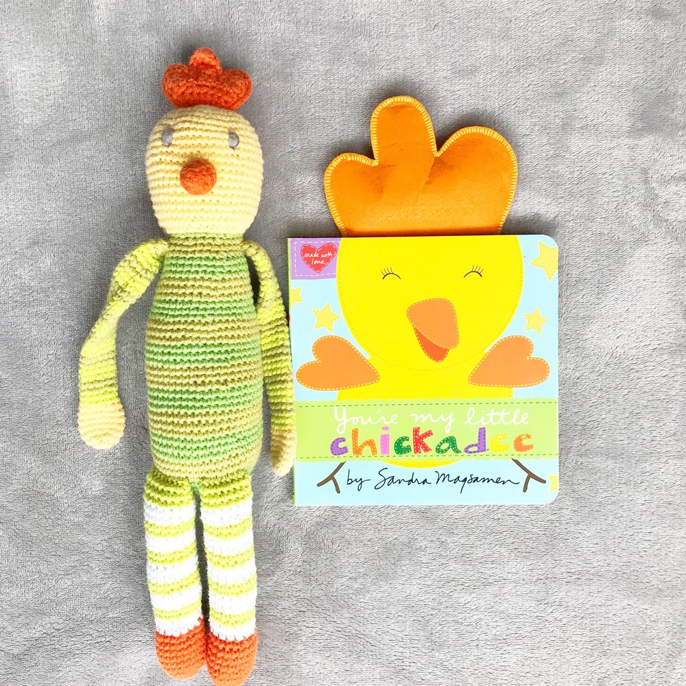 You're my Chickadee   This book is sweet, simple and lovable. Perfect for your younger babes.