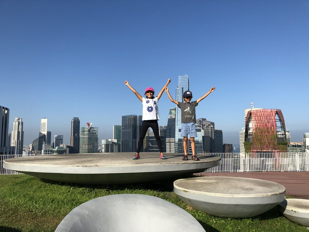 Zara and her brother enjoy the Pinnacle @ Duxton in the city centre