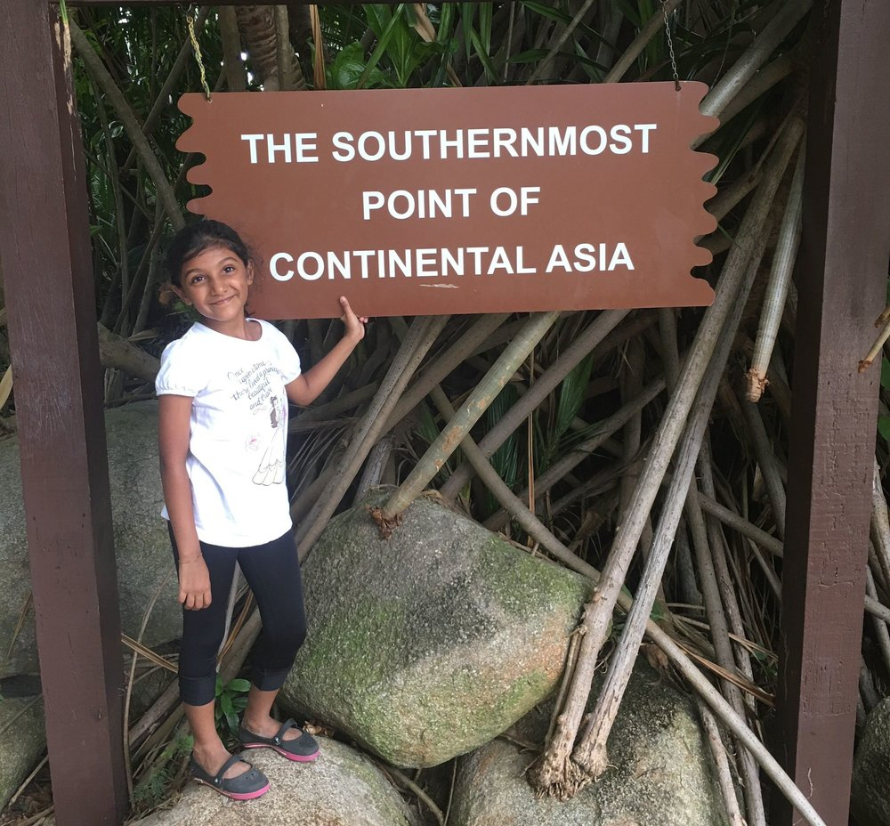 Zara enjoyed learning about the geographical location of Singapore