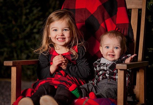 I just like to smile, smiling's my favorite - Buddy the Elf  These two braved the cold on Friday night and are ready for Santa to visit!  #rva #christmas #familypictures