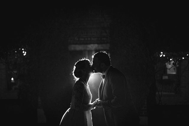 You kissed me then, under a starry October sky. I knew I found our love and future forever.  Had such an awesome day yesterday with Lucy and Brian at Historic Mankin Mansion. Can't wait to share the rest from their big day later this week! #cantbaileywait #rvaweddings #mankinmansion #linkowitzphotography