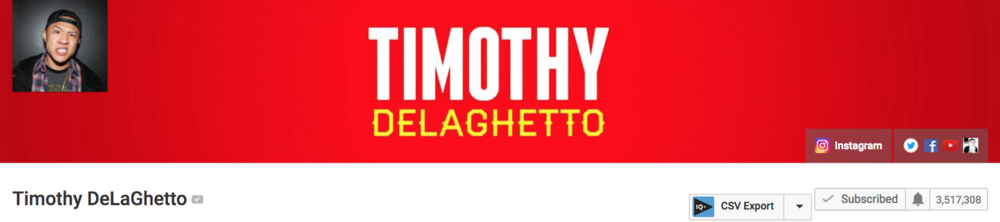 Most of us in Subplot Entertainment have been uploading to YouTube for over  ten years!  So when one of our clients happens to be one of the first YouTube pioneers with over  3.5 million  subscribers and  700,000,000+  video views, we get a little excited. We have been working with Mr. DeLaGhetto since September of 2016 and since then, we've created all of his sketch comedy content. His videos are often  NSFW.