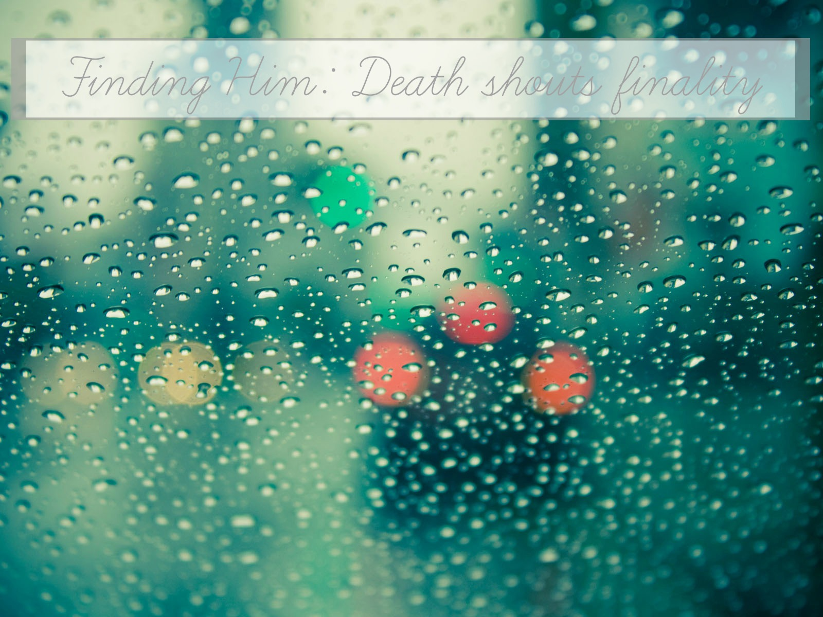 death-losing someone you love