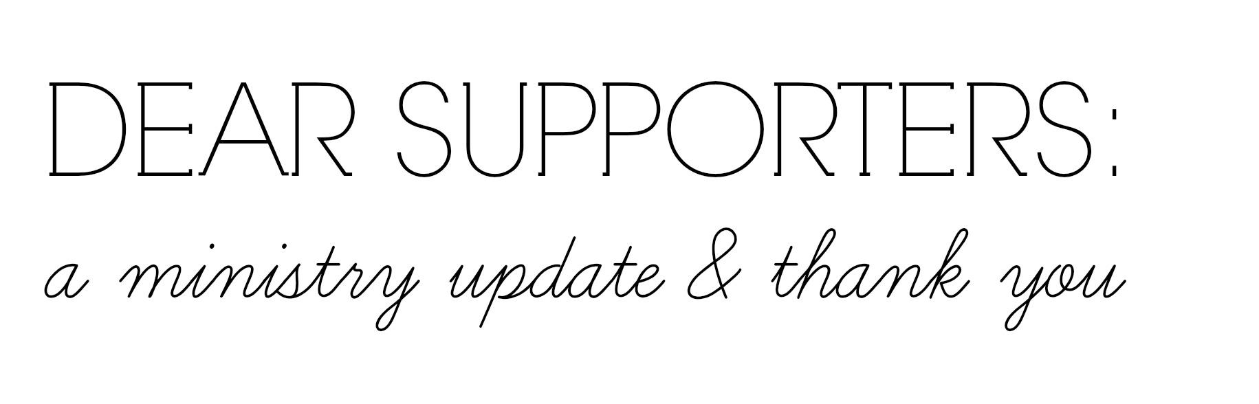 dear supporters