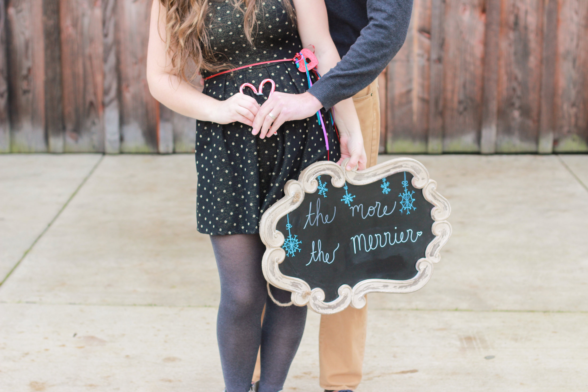 baby pregnancy announcement, coupled with adoption