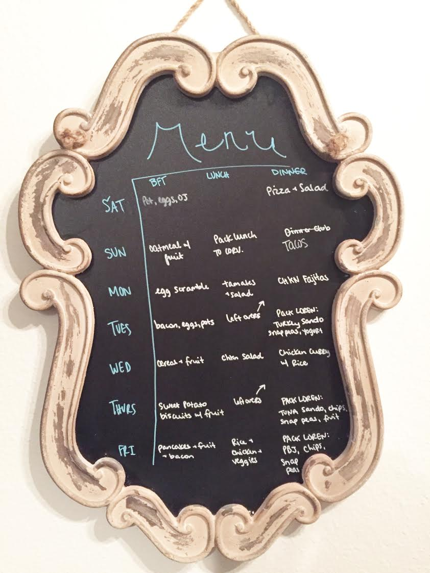 menu planning, save money